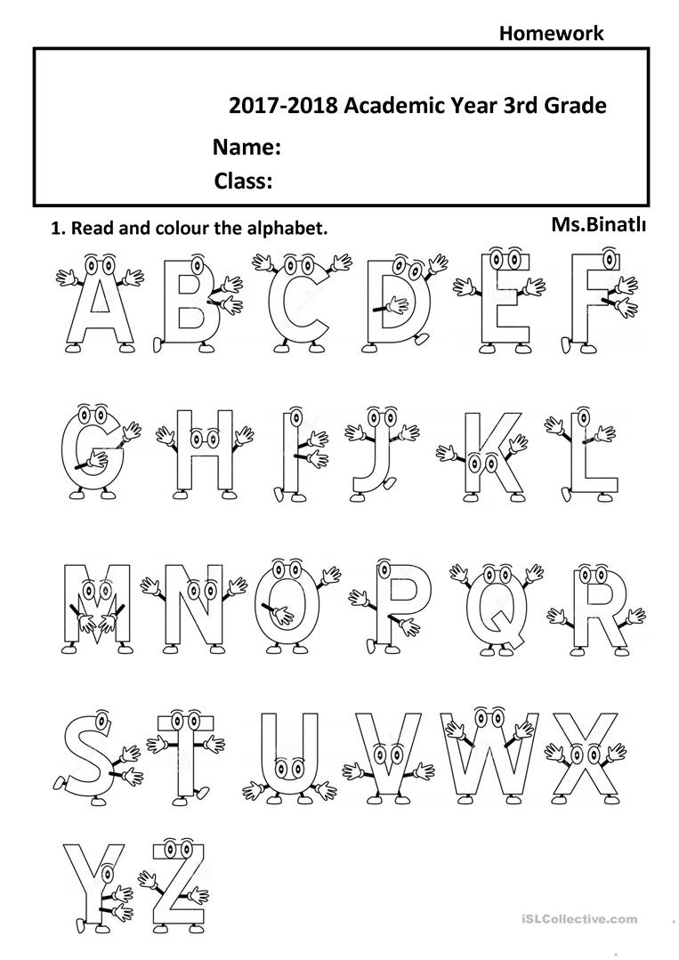 the alphabet 2 - English ESL Worksheets for distance ...
