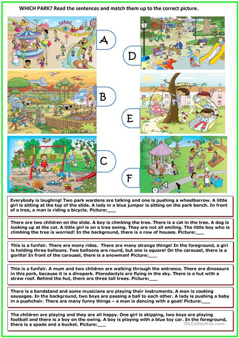 Which Park Worksheet Free Esl Printable Worksheets Made By Teachers