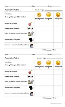 English Esl Rubric Worksheets Most Downloaded 21 Results