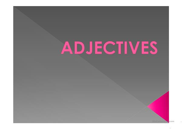 Adjectives and Plurals