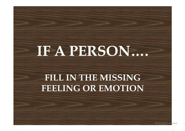 If a person...