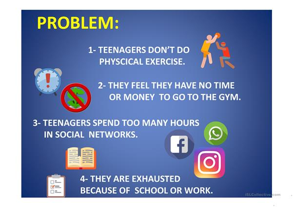Teenagers and physical exercise.