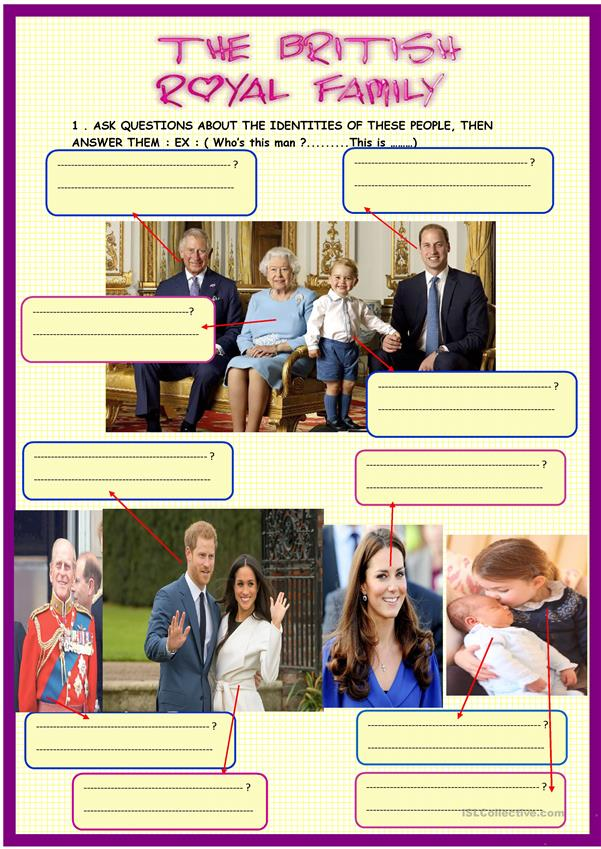 The British royal family+ croswords on page 2 with KEY