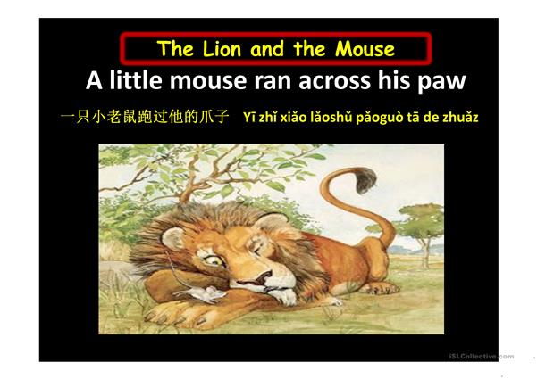 THE LION AND THE MOUSE GRADE 2 AND 3