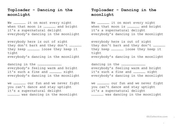 Toploader - Dancing in the moonlight