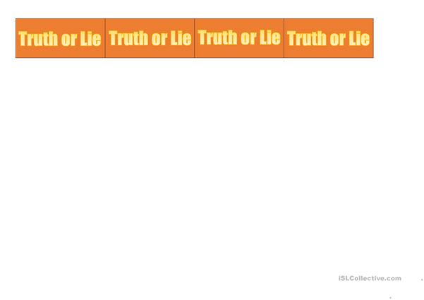 Truth or lie C1
