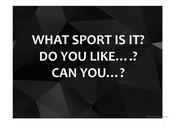 What sport is it?