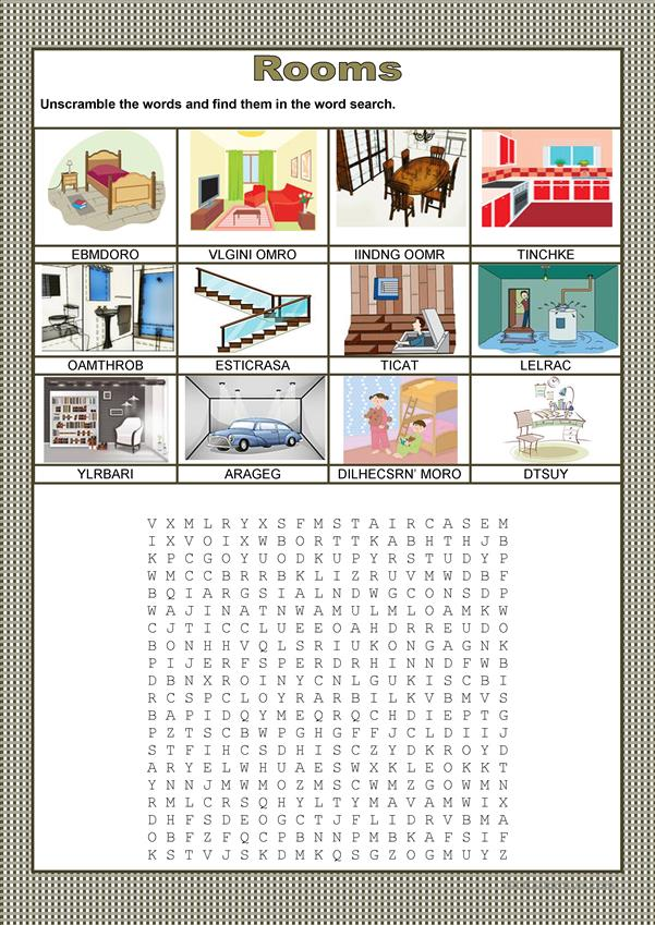 Wordsearch - Rooms