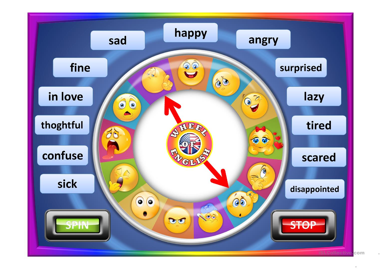 Feelings Wheel English Esl Powerpoints For Distance Learning And Physical Classrooms
