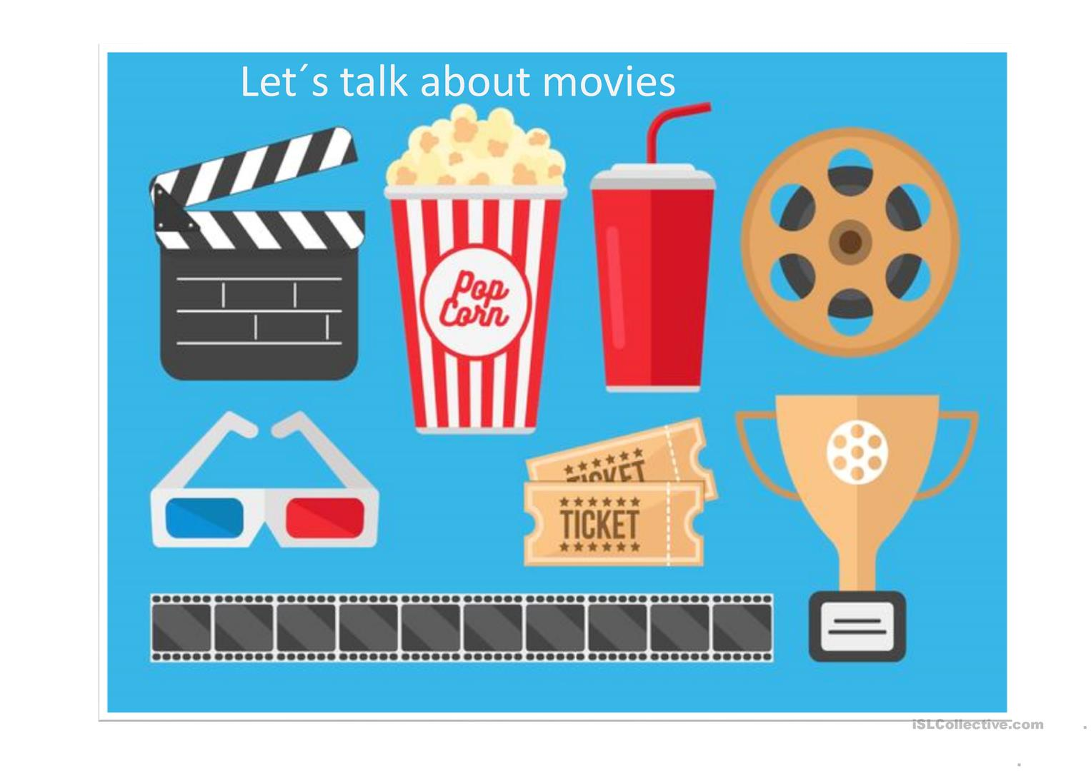 Movies - adjectives and movie review - English ESL Powerpoints for distance  learning and physical classrooms