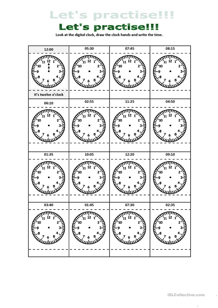 What time is it digital and analogue clock practice worksheet digital and analogue clock practice full screen ibookread ePUb