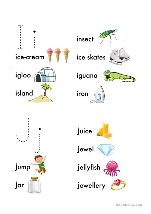 photo relating to Alphabet Book Printable known as Alphabet E book: I-R worksheet - Cost-free ESL printable worksheets