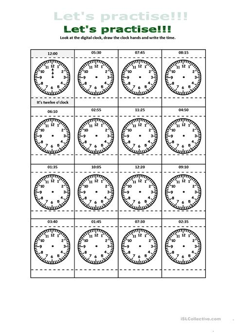 What Time Is It Digital And Analogue Clock Practice Worksheet