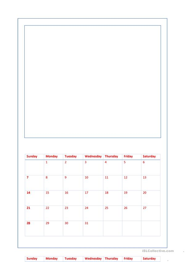 Design your own calendar 2018