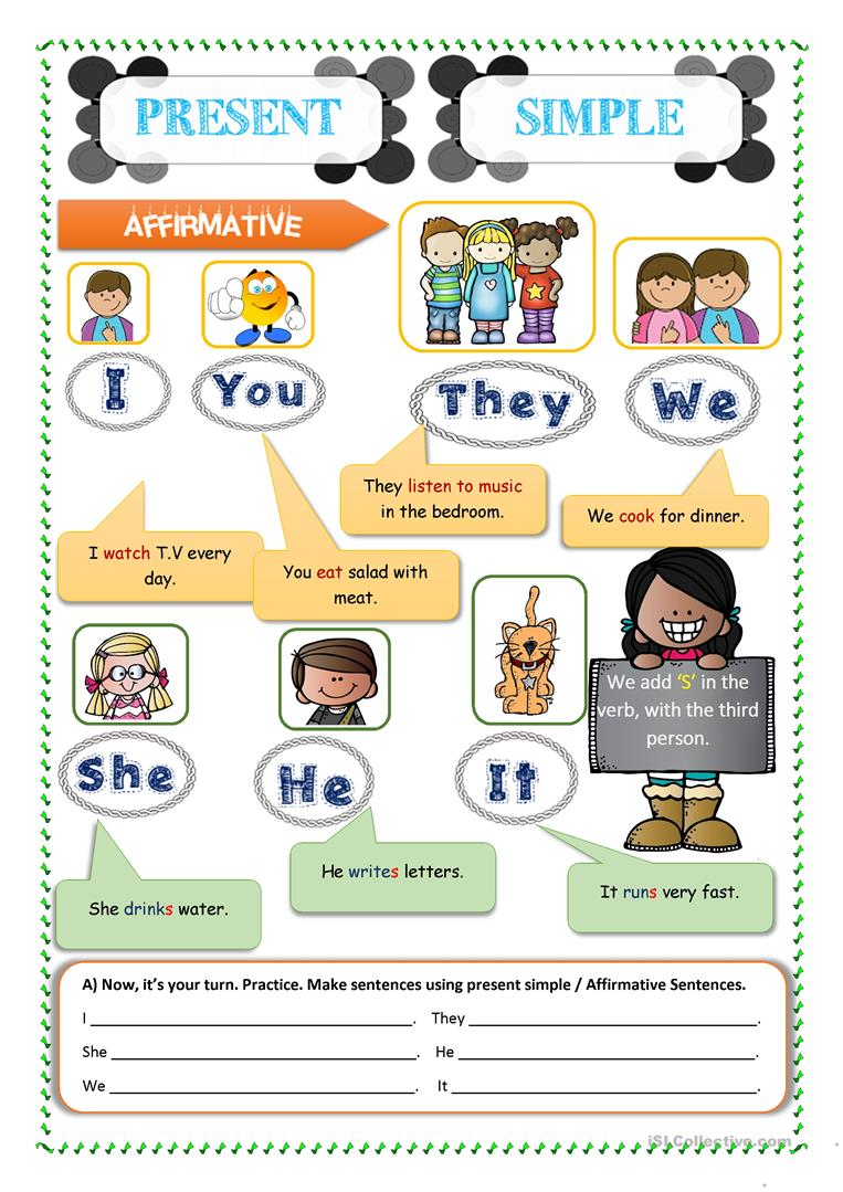 Present Simple Easy For Kids Grammar English Esl Worksheets For Distance Learning And Physical Classrooms
