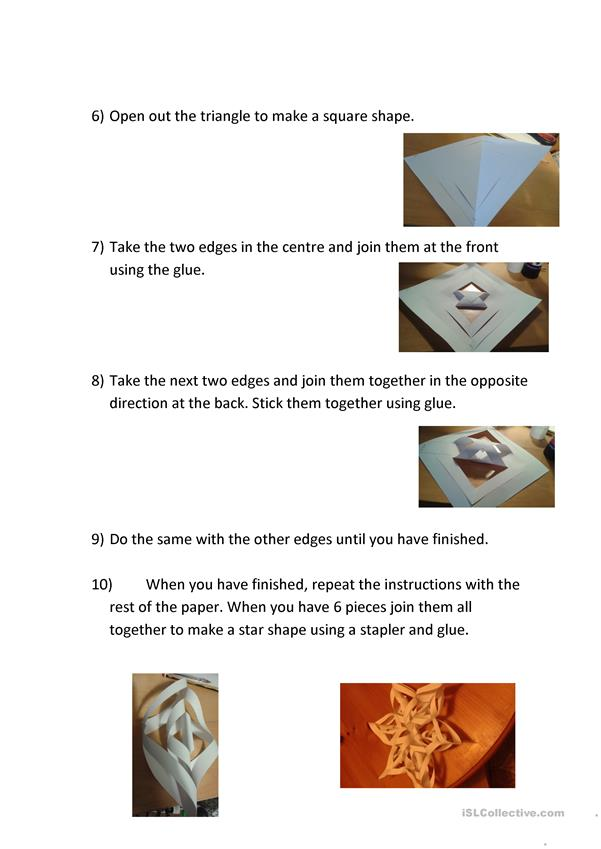 How to make a paper star decoration.
