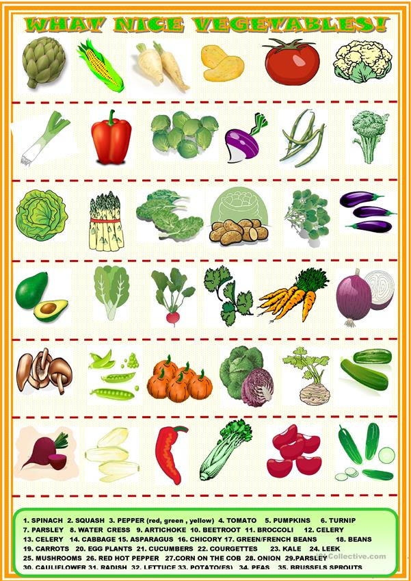 What nice vegetables!