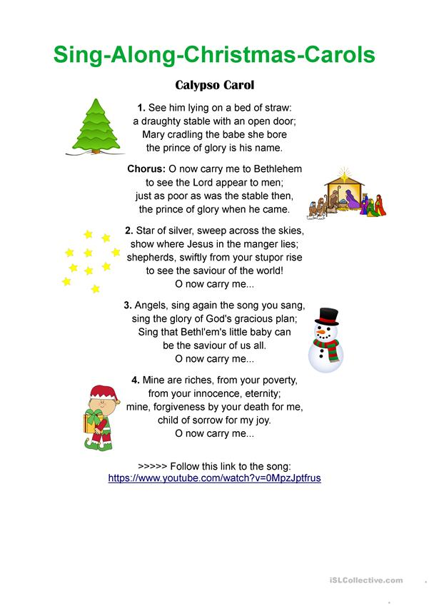 Calypso Carol - Sing-Along Christmas Songs - English ESL ...