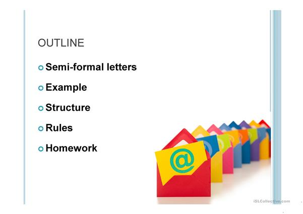 Easy How To Write A Semi Formal Letter Or Email A2 B1 English Esl Powerpoints For Distance Learning And Physical Classrooms
