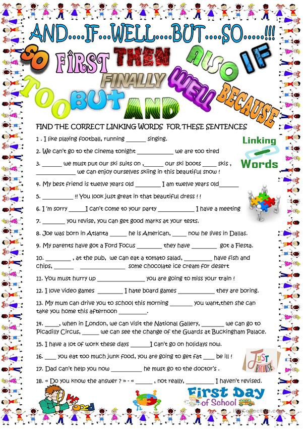Linking words for young learners with KEY