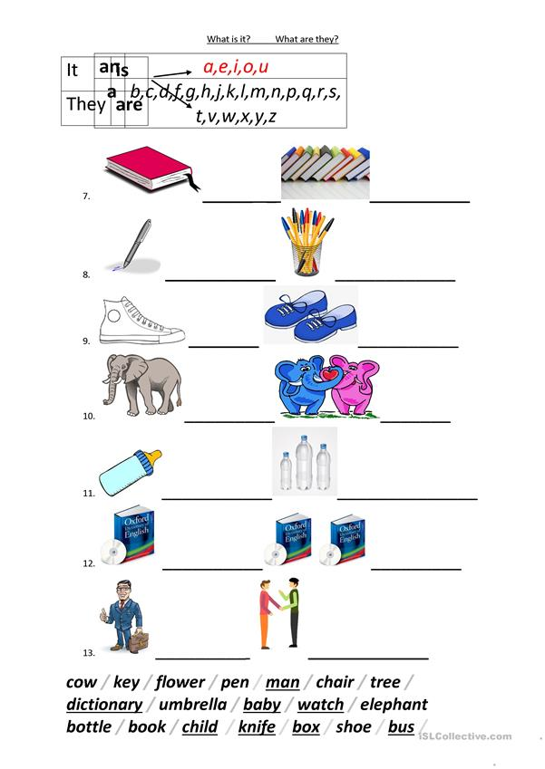Singular And Plural Sentences Beginner - English ESL Worksheets For  Distance Learning And Physical Classrooms