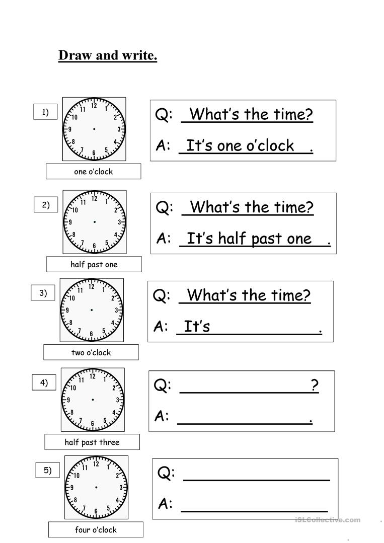 - Clock - English ESL Worksheets For Distance Learning And Physical