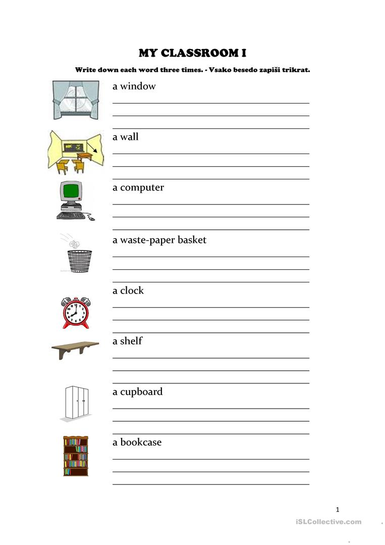 My classroom I - English ESL Worksheets