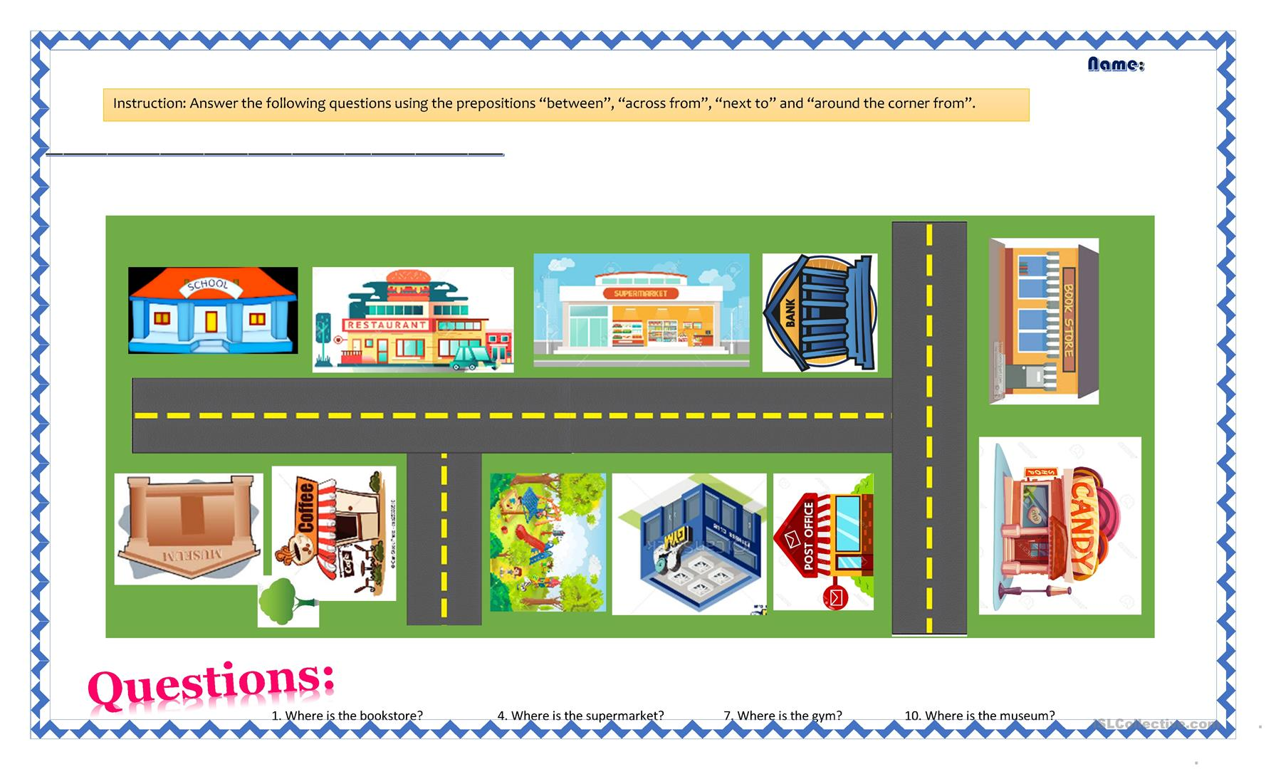 Preposition In Learn In Marathi All Complate: Preposition Of Place Worksheet