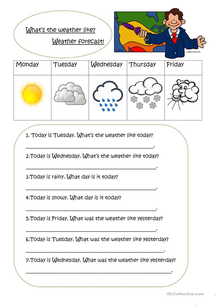 weather and weather forecast worksheet free esl printable worksheets made by teachers. Black Bedroom Furniture Sets. Home Design Ideas