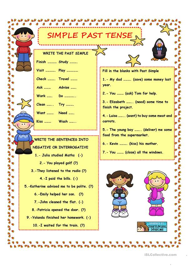 SIMPLE PAST  TENSE - REGULAR VERBS
