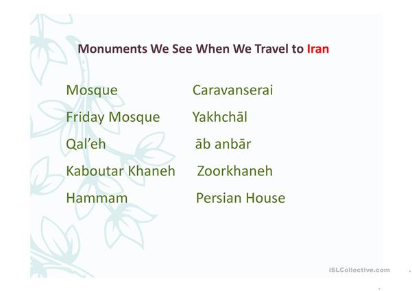 Monuments we see when we travel to Iran