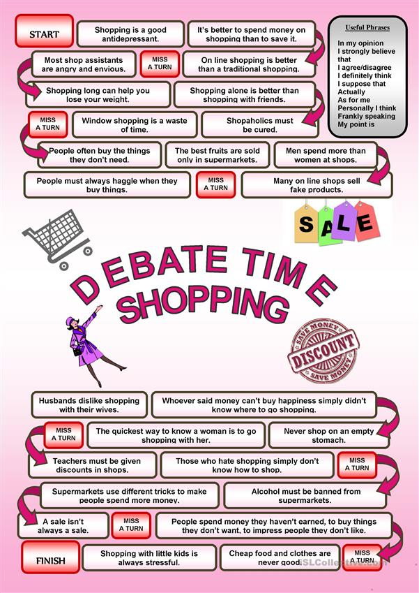 Debate time - SHOPPING