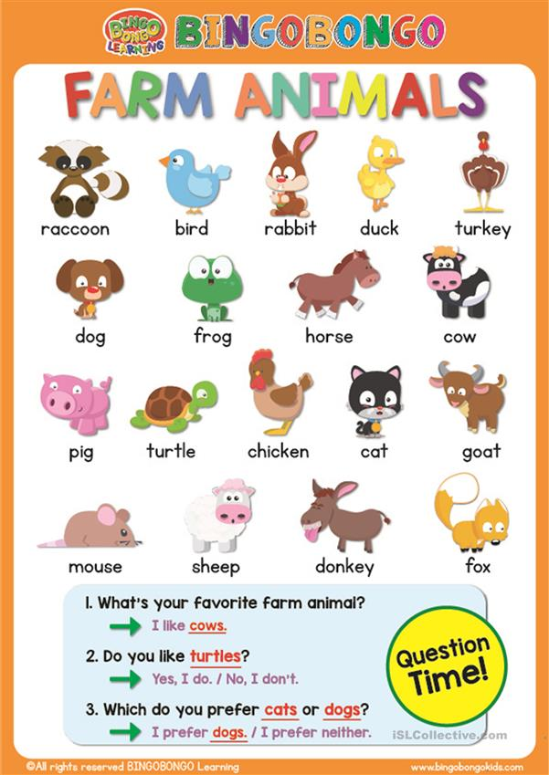 farm animal worksheet worksheet free esl printable. Black Bedroom Furniture Sets. Home Design Ideas