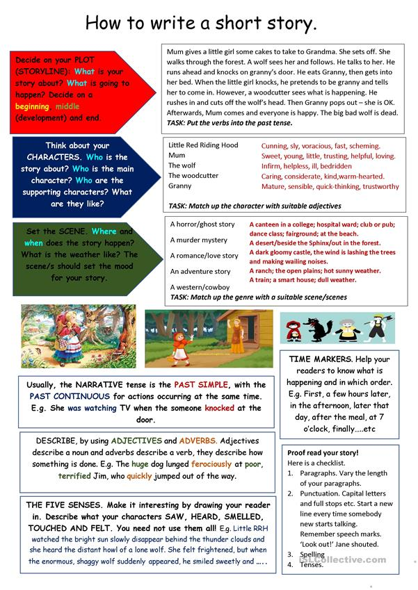 Tips On Writing A Short Story - English ESL Worksheets For Distance  Learning And Physical Classrooms