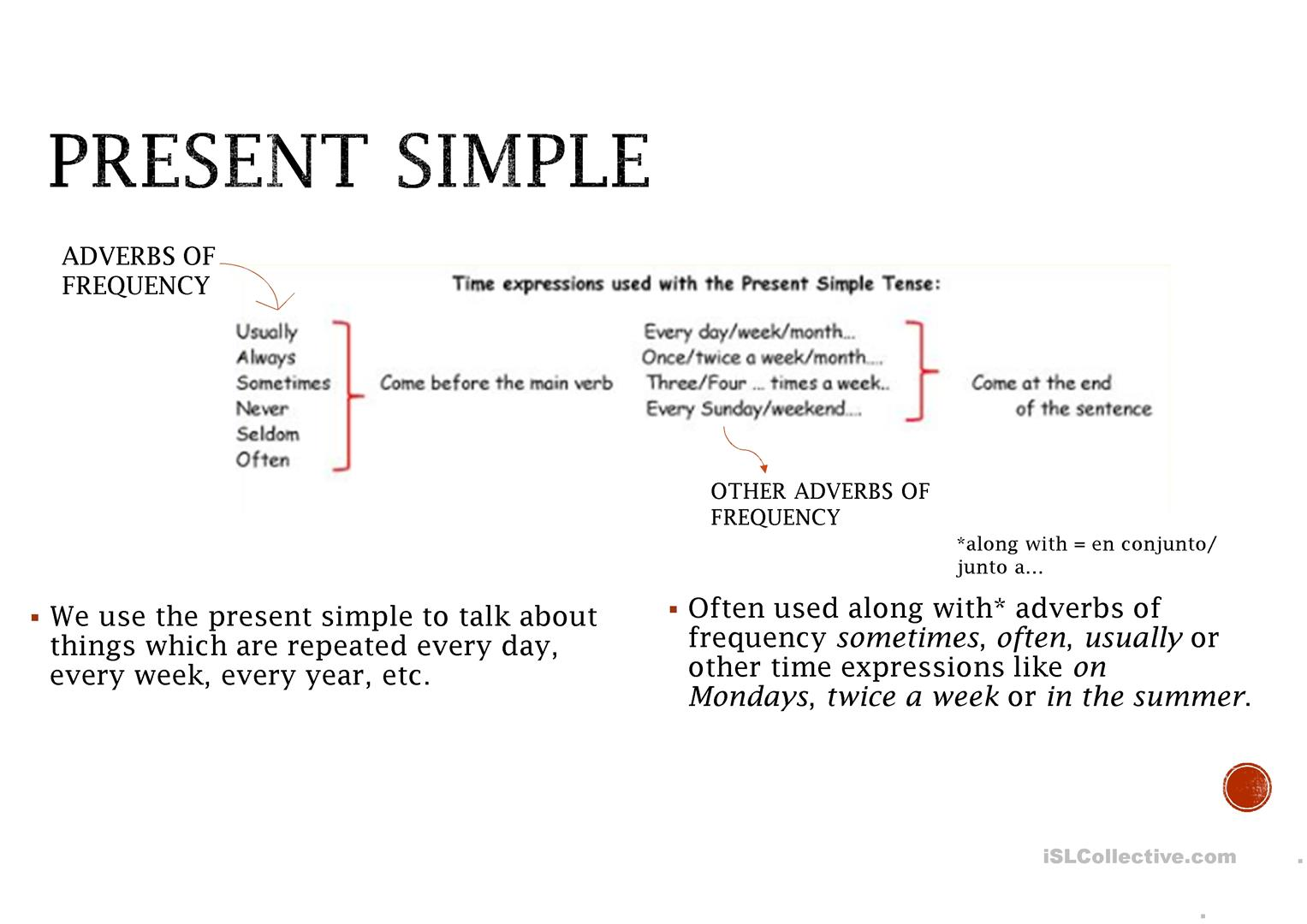 Present Simple Third Person Rule English Esl Powerpoints For Distance Learning And Physical Classrooms