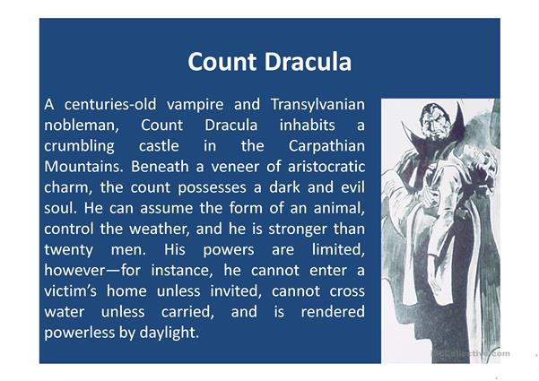 Dracula: Elements of a Story