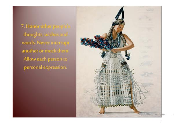 Native Americans-CODE of Ethics - Proverbs (22 slides)