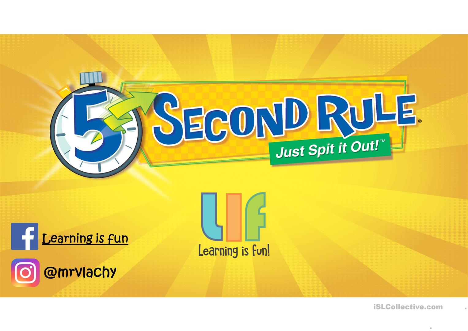 5 Second Rule Vocabulary Game English Esl Powerpoints For Distance Learning And Physical Classrooms