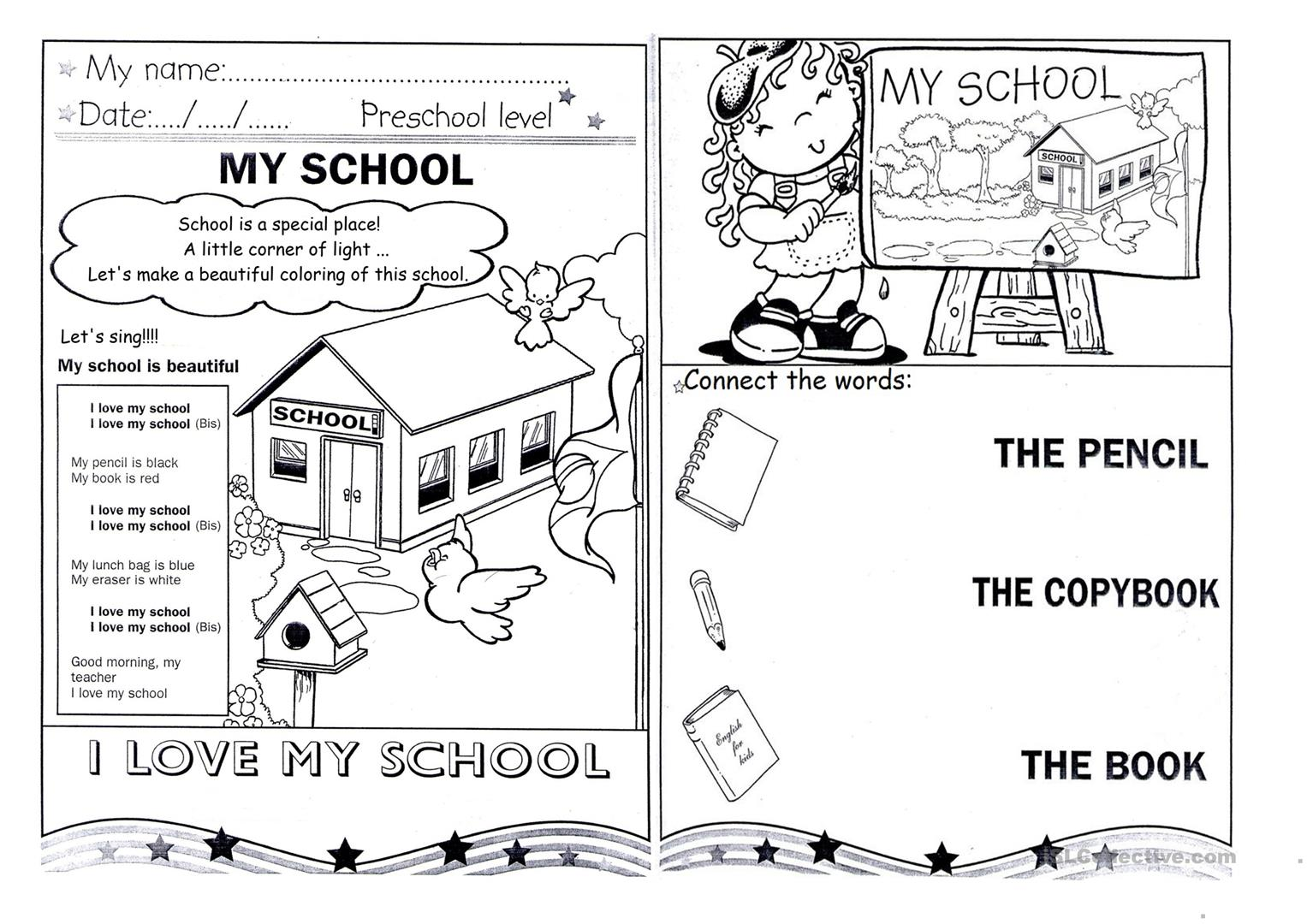 - My School - English ESL Worksheets For Distance Learning And