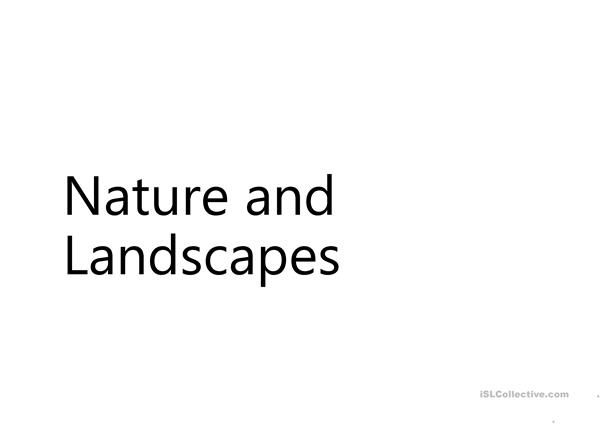 Nature and Landscapes Lesson Part 2