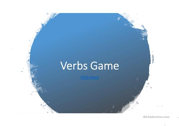 Verbs Game Version 1