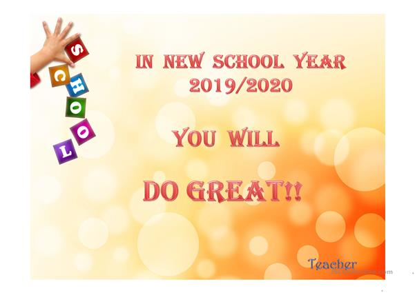 BACK TO SCHOOL - Our Main Goals for the Year
