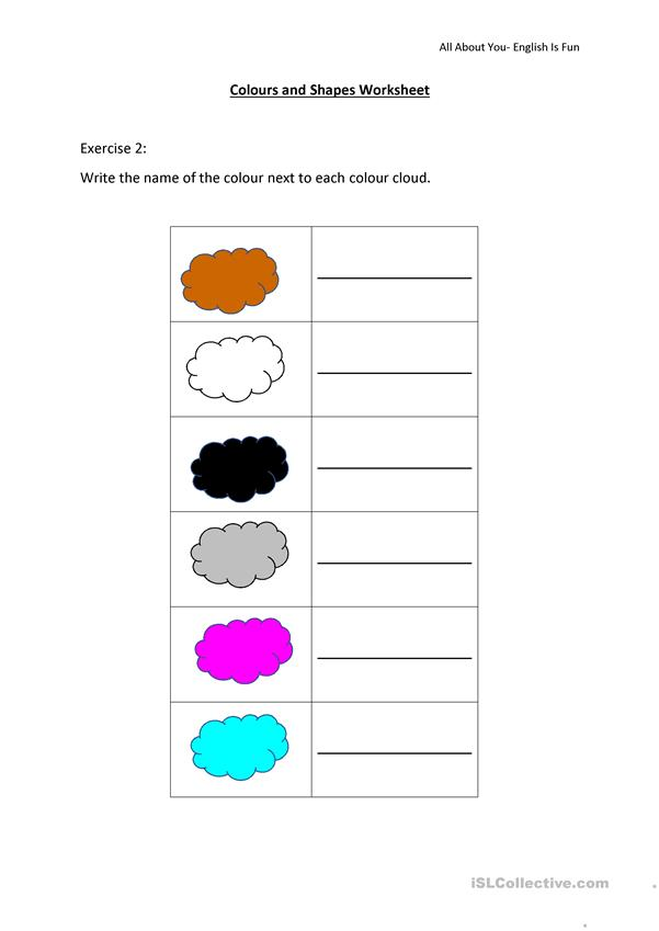 Colours And Shapes Worksheet - English ESL Worksheets For Distance Learning  And Physical Classrooms