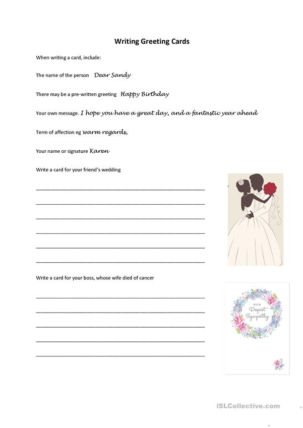 Writing Greeting Cards