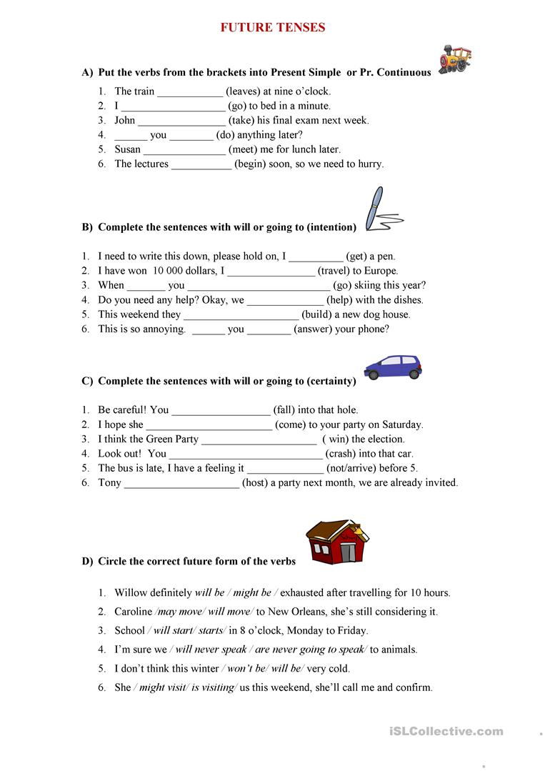 Future Tenses Worksheet English Esl Worksheets For Distance Learning And Physical Classrooms