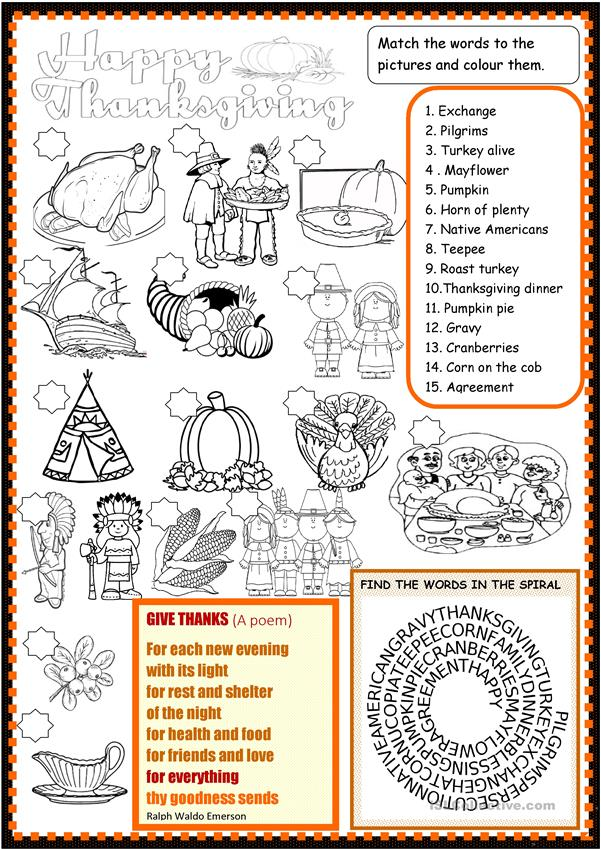Thanksgiving : multiple activities for young learners
