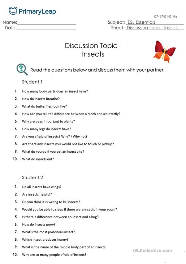Discussion Topic - Insects