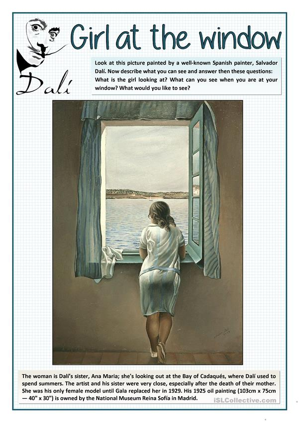 THE GIRL AT THE WINDOW BY DALÍ