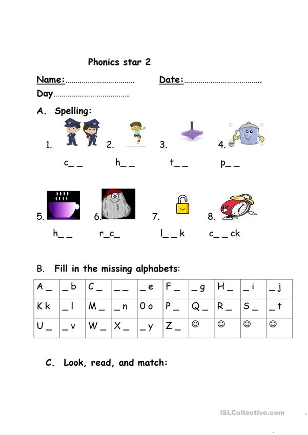 PHONICS   English ESL Worksheets for distance learning and ...