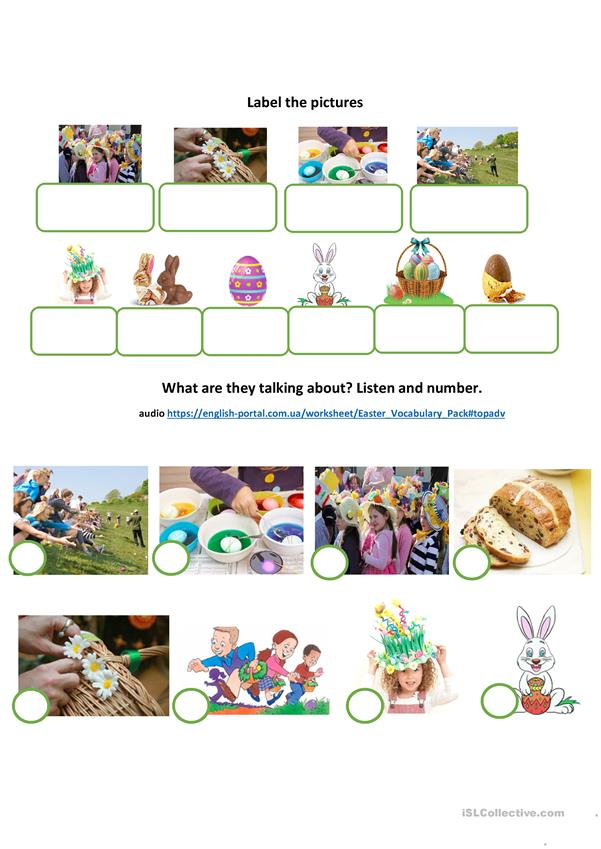 Easter vocabulary pack